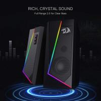 Redragon GS520 Anvil RGB Desktop Speakers, 2.0 Channel PC Computer Stereo Speaker with 6 Colorful LED Modes
