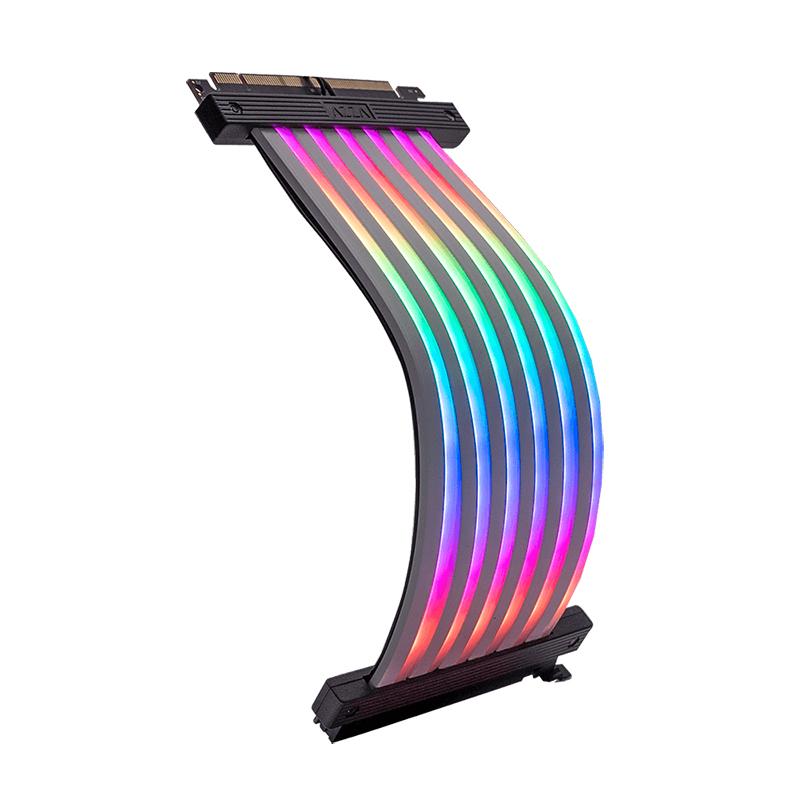 Azza RGB Riser Cable 180 Degree PCIe 3.0 x 16 - 200mm