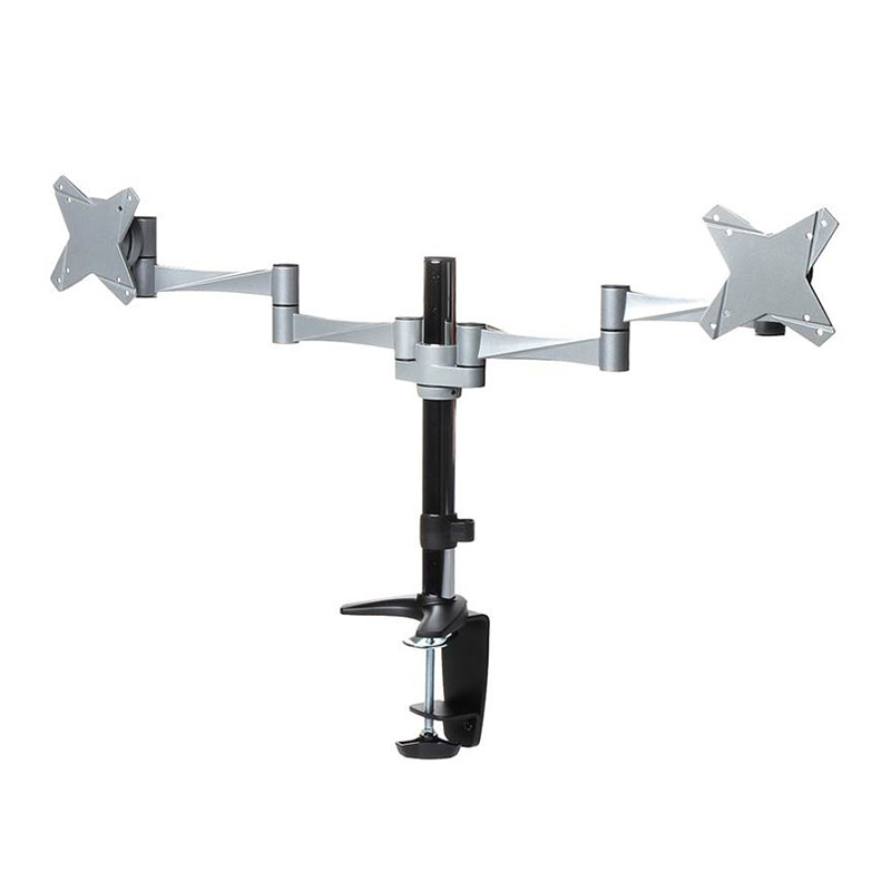Brateck Dual Monitor Elegant Aluminium Arm Desk Clamp