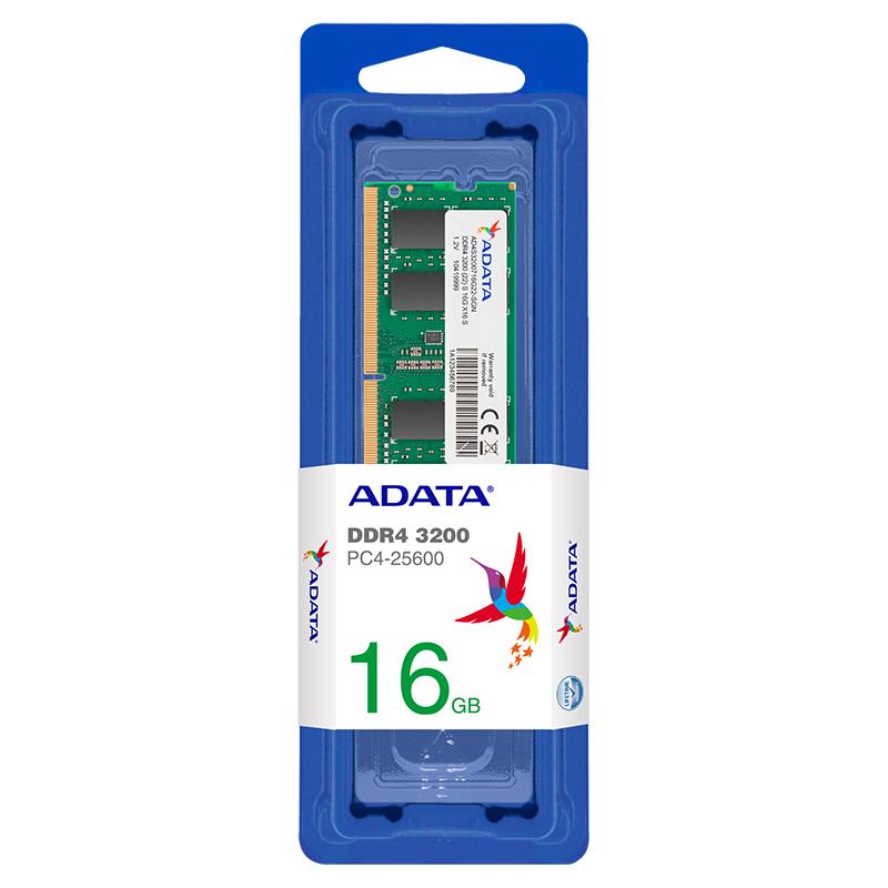 ADATA 16GB (1x16GB) AD4S3200716G22-SGN 3200MHz DDR4 SODIMM RAM