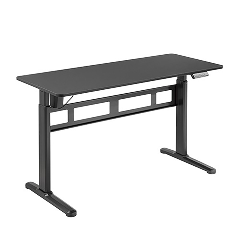 Brateck Stylish Single Motor Sit Stand Desk - Black