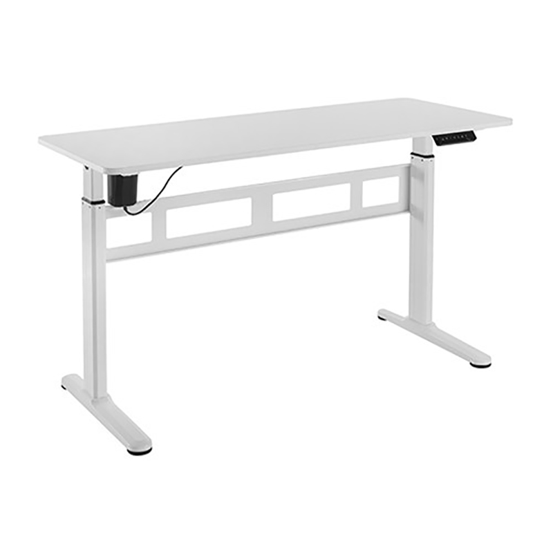Brateck Stylish Single Motor Sit Stand Desk - White