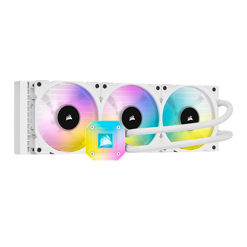 Corsair iCUE H150i Elite Capellix 360mm ARGB AIO Liquid CPU Cooler - White