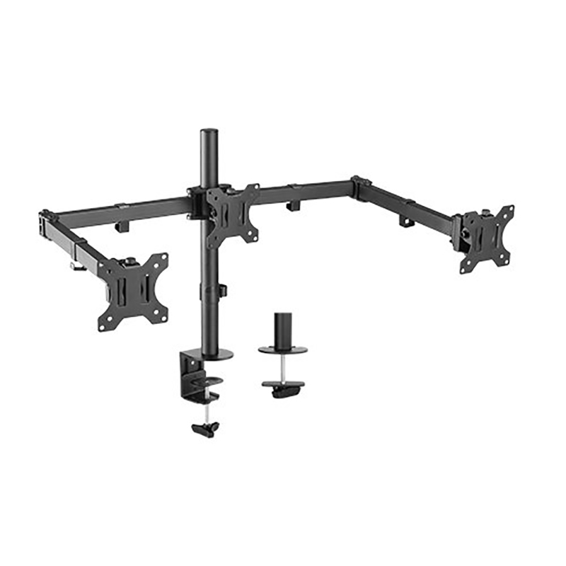 Brateck Triple Monitor Double Joint Articulating Monitor Arm