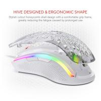 Redragon M808 Storm Lightweight RGB Gaming Mouse, 85g Ultralight Honeycomb Mouse