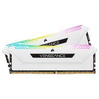 Corsair 16GB (2x8GB) CMH16GX4M2D3600C18W Vengeance RGB Pro SL 3600MHz DDR4 RAM - White
