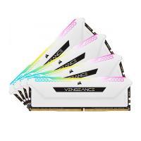 Corsair 32GB (4x8GB) CMH32GX4M4E3200C16W Vengeance RGB Pro SL 3200MHz DDR4 RAM - White