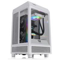 Thermaltake The Tower 100 TG Mini ITX Case - Snow