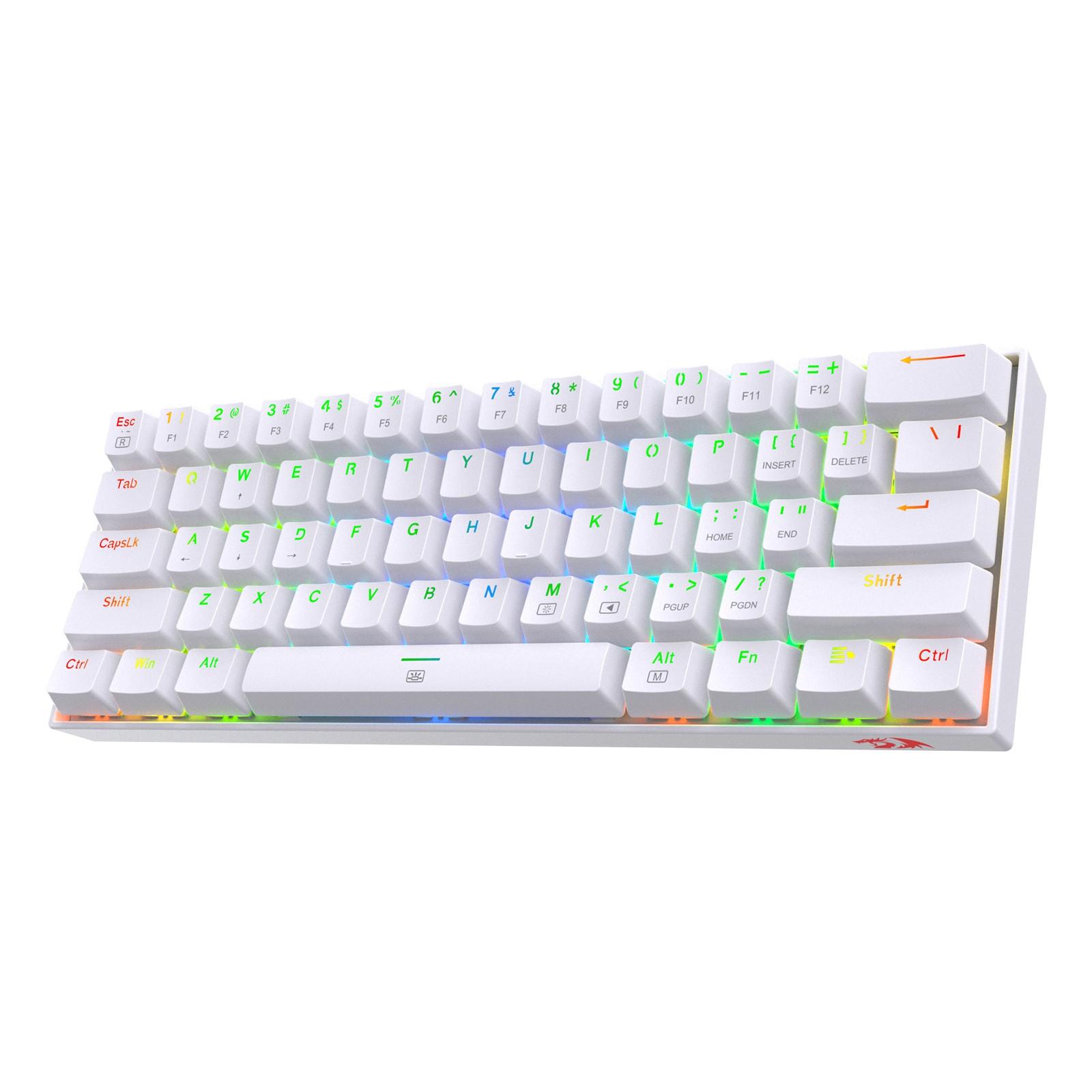 Redragon K630 60% RGB Wired Mechanical Keyboard, Red Switch
