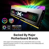 Silicon Power 16GB (2x8GB) SP016GXLZU360BDB 3600MHz Turbine Gaming Desktop Memory RGB DDR4 RAM