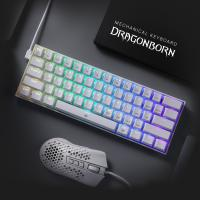 Redragon K630 60% RGB Wired Mechanical Keyboard, Brown Switch