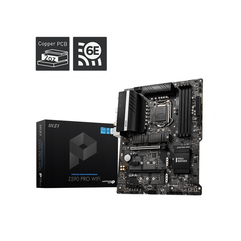 MSI Z590 Pro WiFi LGA 1200 ATX Motherboard