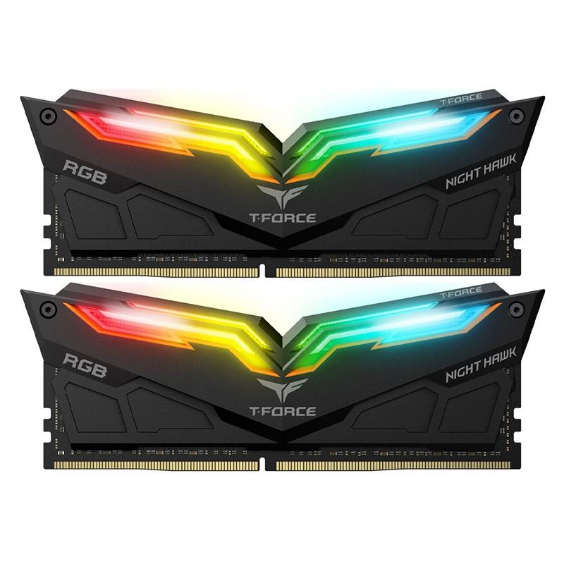Team 32GB (2x16GB) TF1D432G3600HC18JDC01 Night hawk RGB 3600MHz DDR4 RAM