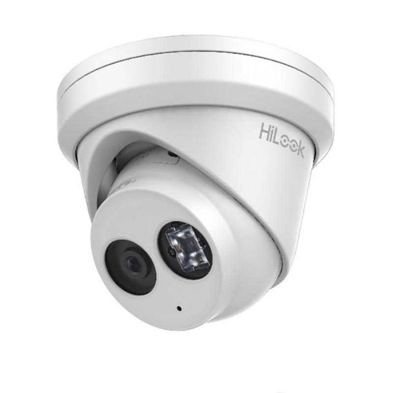 Hikvision HiLook 6MP IR Turret Camera Built in Mic Surveillance Camera - White