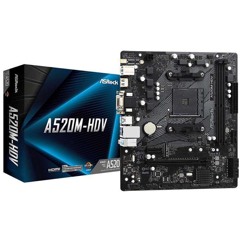 Asrock A520M-HDV AM4 mATX Motherboard
