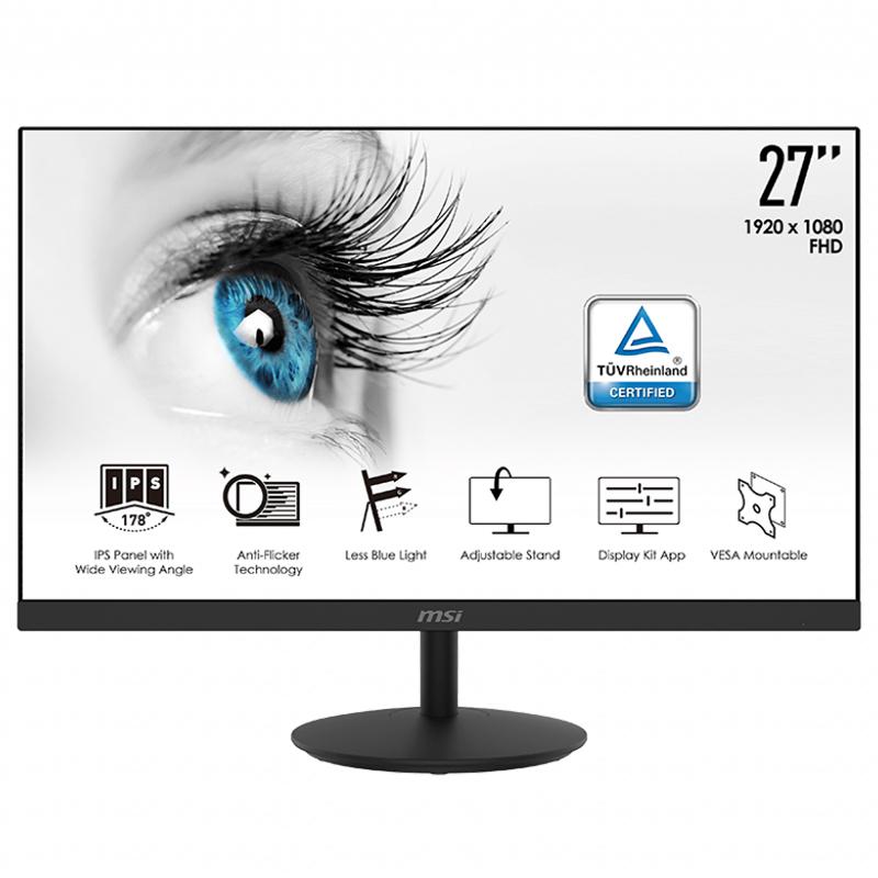 MSI Pro 27in FHD 75Hz Frameless Speaker Business Monitor (MP271P)