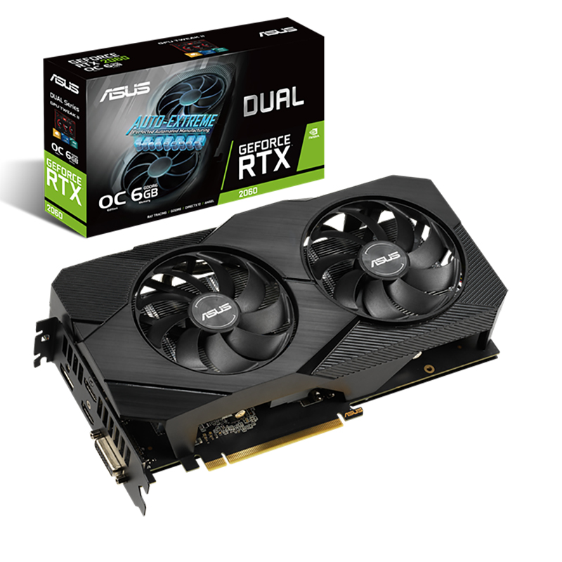 Asus EVO Dual RTX 2060 6GB OC Graphics Card