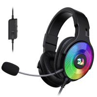 Redragon H350 Pandora RGB Wired Gaming Headset, Dynamic RGB Backlight - Stereo Surround-Sound - 50MM Drivers