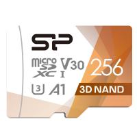 Silicon Power Superior PRO 4K/HD 256GB Micro SDXC Card 100MB/s Read & 80MB/s Write U3, C10, A1, V30 with Adapter