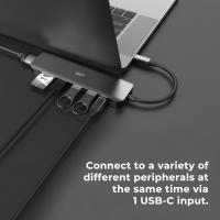 Silicon Power 7-in-1 USB C Hub with HDMI, USB 3.2 Gen 1, micro SD & SD Card Reader for iPad Pro/MacBook/Note Book