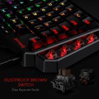Redragon K585 DITI One-Handed RGB Mechanical Gaming Keyboard,Brown Switch