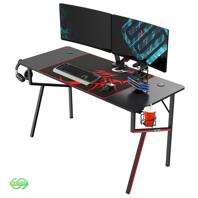 Eureka Ergonomic K55 Gaming Desk - Black