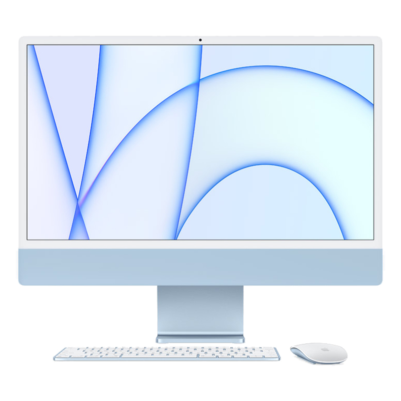 Apple 24 in iMac - Apple M1 8 Core GPU 512GB - Blue (MGPL3X/A)