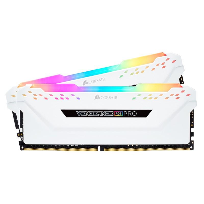 Corsair 32GB (2x16GB) CMW32GX4M2E3200C16W Vengence RGB Pro 3200MHz DDR4 RAM White