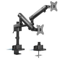 Brateck Dual Monitor Slim Pole Spring Assisted Monitor Arm with USB Port