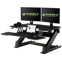 Eureka Ergonomic Height Adjustable Standing Desk Converter 36in - Black