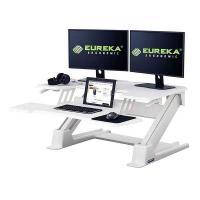 Eureka Ergonomic Height Adjustable Standing Desk Converter 36in - White