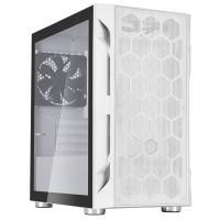 SilverStone Fara H1M Tempered Glass Micro ATX Case White