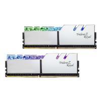 G.Skill 16GB (2x8GB) F4-5333C22D-16GTRS Trident Z Royal RGB 5333 MHz DDR4 RAM - Silver