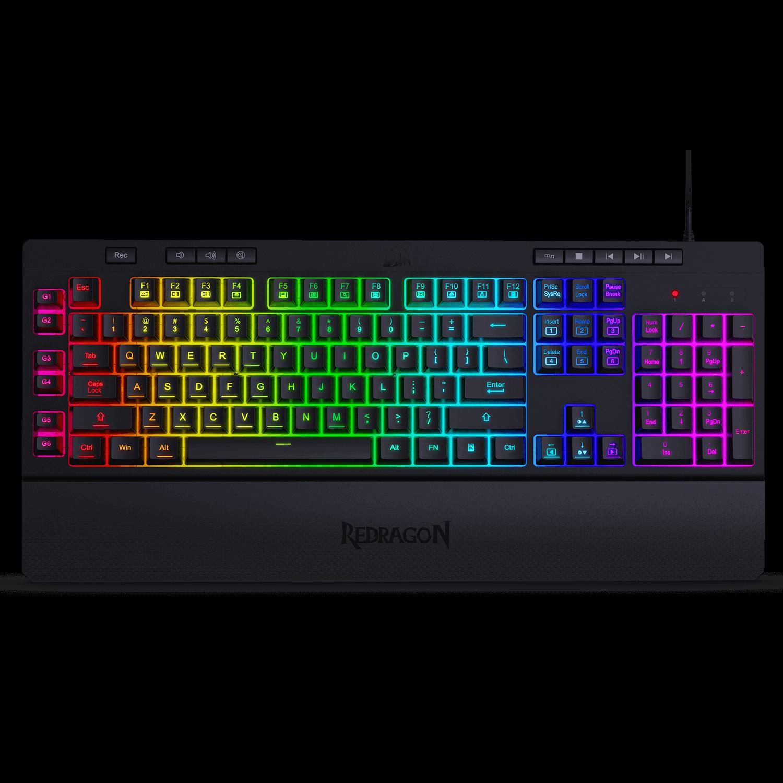 Redragon K512 Shiva RGB Backlit Membrane Gaming Keyboard with Multimedia Keys