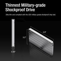 Silicon Power 2TB A75 Scratch Resistant & Waterproof USB C External Hard Drive For PC,MAC,XBOX,PS4