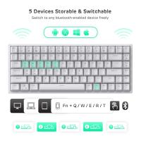 RK ROYAL KLUDGE RK84 Wireless Bluetooth/2.4Ghz 80% RGB Mechanical Gaming Keyboard,Red Switch