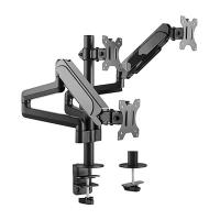 Brateck 17-27 inch Triple Monitor Pole Mounted Gas Spring Monitor Arm