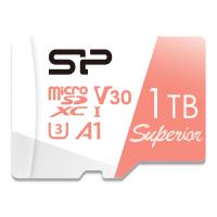 Silicon Power 4K/HD Superior 1TB Micro SDXC Card 100MB/s Read & 80MB/s Write U3, C10, A1, V30 High Speed Memory Card with Adapter