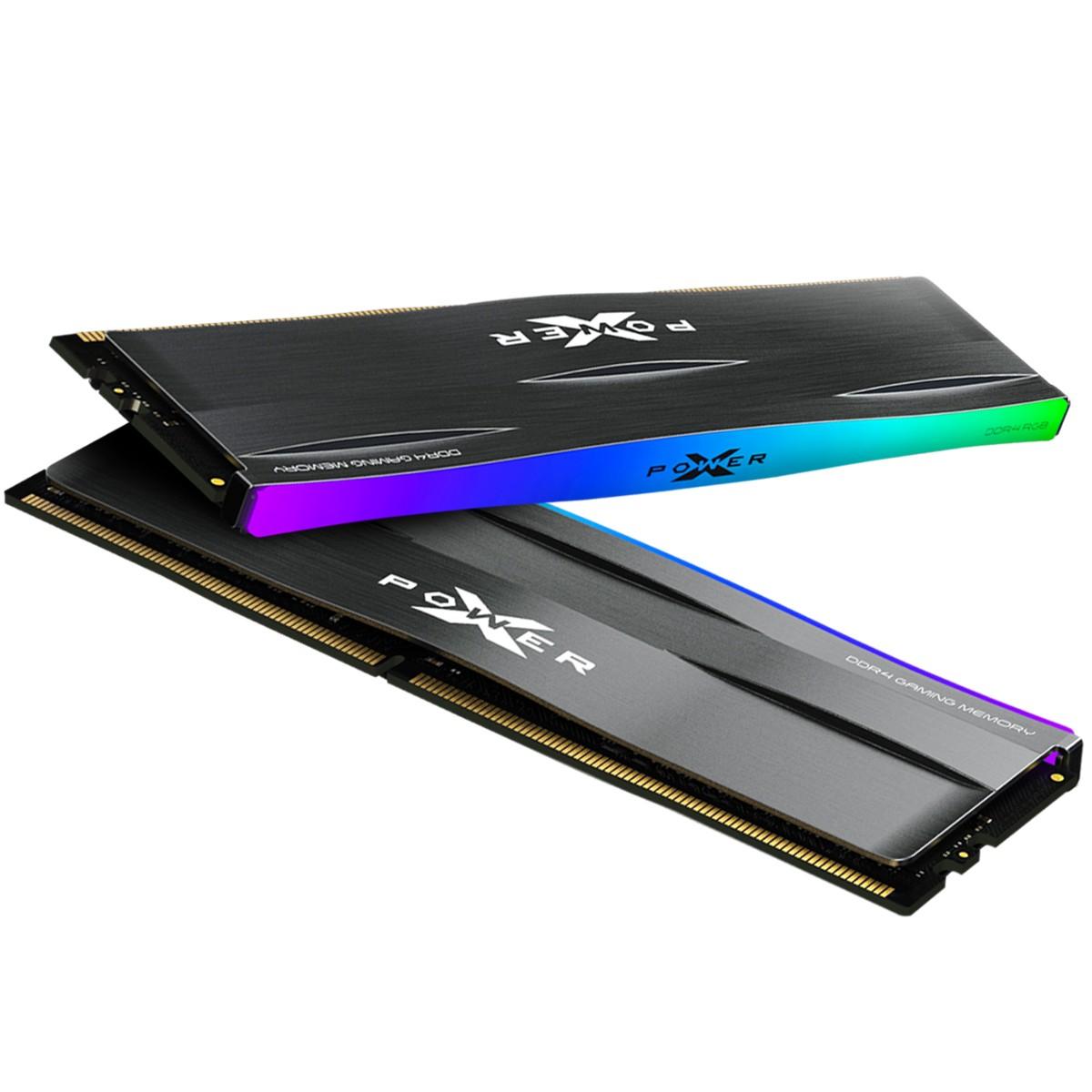 Silicon Power 32GB (2x16GB) SP032GXLZU360BDD 3600MHz XPOWER RGB Zenith Gaming Desktop Memory DDR4 RAM