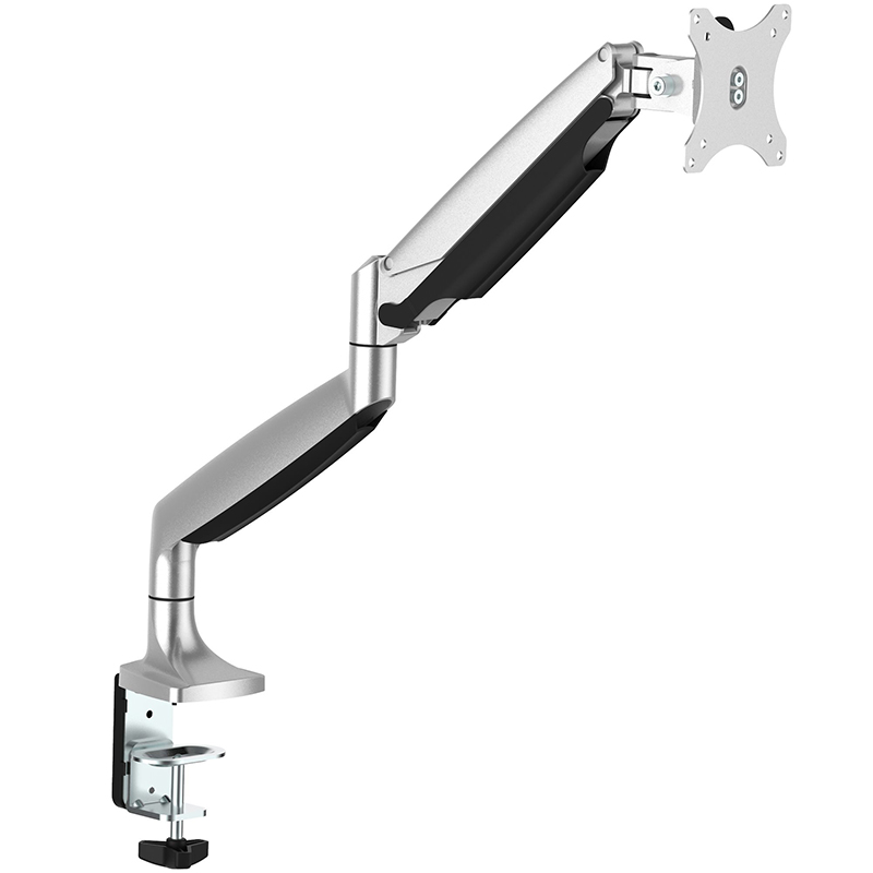 Startech ARMPIVOTHD Single Full Motion Articulating Desk-Mount Monitor Arm - Silver