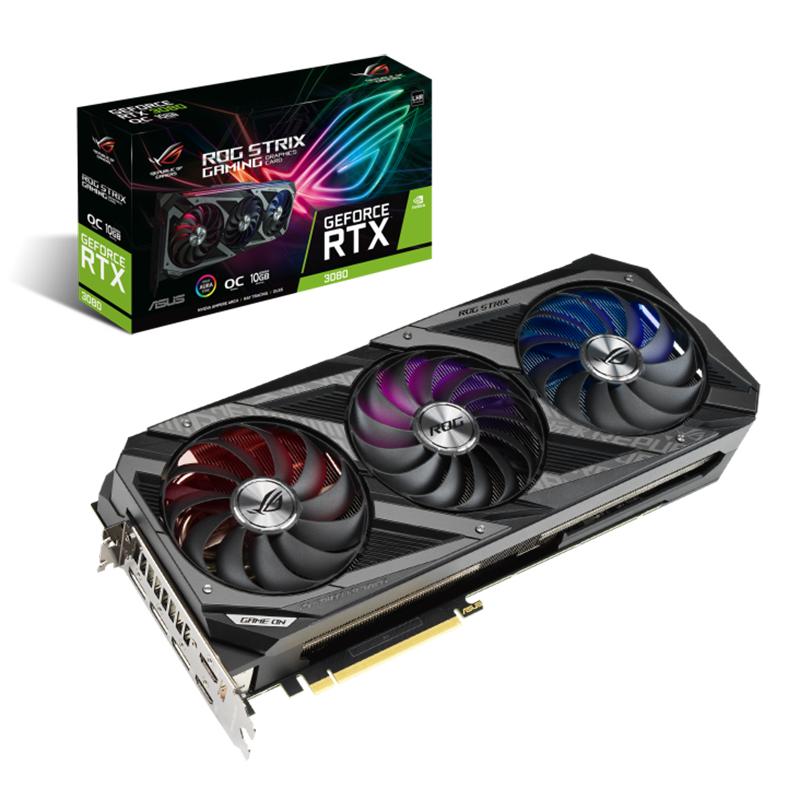 Asus ROG Strix GeForce RTX 3080 V2 OC 10G LHR Graphics Card