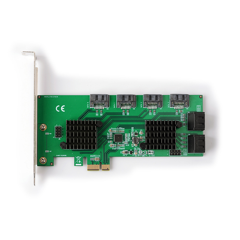 SpeedDragon PCI-E SATA 6G 8ports CARD ASM1182E+2*ASM1064