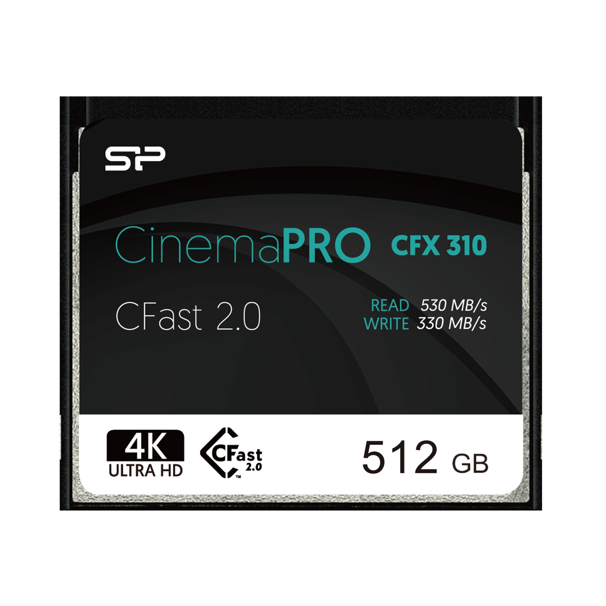 Silicon Power 512GB CFast 2.0 CinemaPro 530MB/s CFX310 MLC Memory Card SP512GICFX311NV0BM
