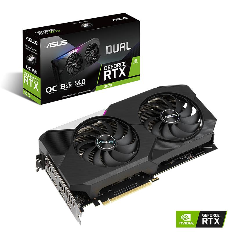 Asus Geforce RTX 3070 Dual OC 8G LHR V2 Graphics Card