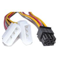 Generic 2x Molex to 6Pin PCIe Power Cable