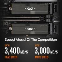 Silicon Power 2TB XD80 Gen3x4 TLC R/W up to 3,400/3,000 MB/s PCIe M.2 NVMe SSD