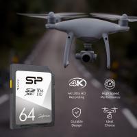 Silicon Power 64GB Superior 4K 100MB/S UHS-I U3 SDXC For DSLR,CAMERA,CAMCORDER,GOPRO,3D CAMERA