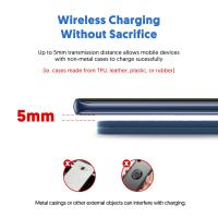Silicon Power Leather 7.5W/10W Fast Wireless Charger Qi-Certified for iOS , Android