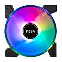 AZZA Hurricane II Digital RGB 4*120mm Fan in Retail packing with AZZA Hub