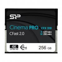 Silicon Power 256GB CFast 2.0 CinemaPro 530MB/s CFX310 MLC Memory Card SP256GICFX311NV0BM